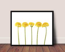 YELLOW DANDELION FLOWER MODERN ART PRINT, DARKROOM PRINTS DESIGN WALL HANGING