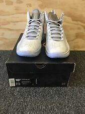 Mens Jordan Melo M11 716639-106 White Silver Basketball Shoes Size 10.5