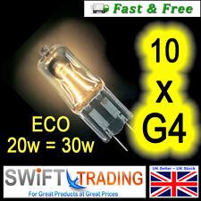 10 x G4 Bulb 12v 20W  ECO HALOGEN ENERGY SAVING (20W=30W) CAPSULE BULBS BRANDED