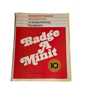 Badge A Minit 1982 Pins Button Designs Magazine Catalog 55 Pgs Buttons Pins