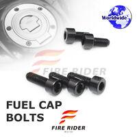 FRW Black Fuel Cap Bolts Set For Suzuki GSX-S1000 /ABS 15-16 15 16