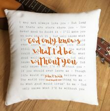 More details for beach boys god only knows lyric personalised cushion 2nd cotton anniversary gift