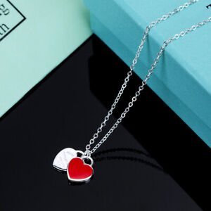 925 Silver Turquoise Enamel Heart Shape Initial Solid Sterling Silver Pendant Necklace Jewelry Turquoise Heart Pendant