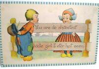 Dutch Children Barton & Spooner Original Vintage Postcard Series C.S. 432 Unused
