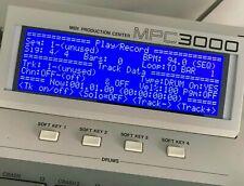 Akai MPC3000 LUX (Negative) Tri-Axis Blue LED Display !