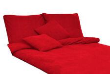 Bettwäsche Set Frottee einfarbig unifarbe LACHS 155x220 2x80x80 cm