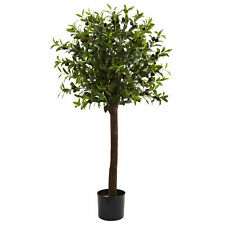 Olive Topiary Silk Tree Artificial Plant Nearly Natural 4'Home Office Decoration
