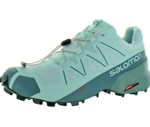 Salomon Speedcross 5 Womens SIZE 10.5 Trail shoes  Icy Morn/Hydro./Green Gables