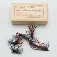 Vintage Alexandria Fly Fishing Wet Flies Lot Hand Tied made in Japan