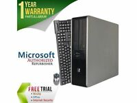 HP Desktop Computer DC7900 Core 2 Duo E8400 (3.00 GHz) 4 GB DDR2 1 TB HDD Intel