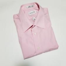 Van Heusen Men's Light Pink Wrinkle Free Dress Shirt | Size 16 34/35