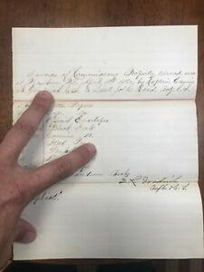 1862 New Bern N. C. Commissary Propery Invoice Captain Goodrich CS. to Lt Read
