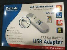 D-Link DWL-122 Air Wireless 802.11b Wi-Fi USB Adapter  Perfect!