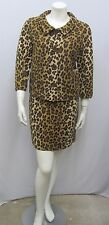 MOSCHINO CHEAP AND CHIC SUIT SET JACKET SKIRT ANIMAL PRINT WOOL I 44 F 40 10 8