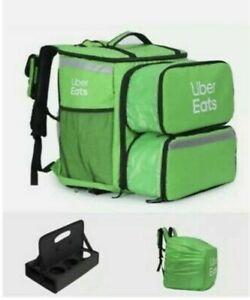 Uber Eats Large Backpack Bag Double Expanding Pizza Pocket Doordash GrubHub Kit