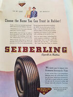 1945 Seiberling Tires Choose the Name You Can Trust in Rubber Experts Color ad