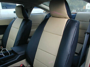 FORD MUSTANG 2005-2014 IGGEE S.LEATHER CUSTOM FIT SEAT COVER 13COLORS AVAILABLE