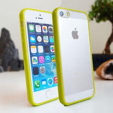 Slim Gel Tpu cubierta de parachoques clara duro Posterior Para Iphone 5c 5s 5 4 4s Funda De Silicona