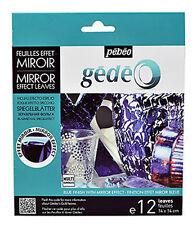 Pebeo Gedeo ORO FOGLIA doratura FOIL finitura a specchio 12 Fogli Colore in blu