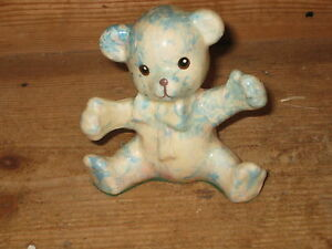 COLLECTIBLE GLOBAL ELUSION TEDDYBEAR CHINA ORNAMENT NEW BABY CHRISTENING PRESENT