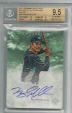 BGS 9.5 2013 Topps Inception GREEN AUTO Brad Miller RC MARINERS #d 22/25 10 AUTO