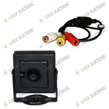 MINI MICRO TELECAMERA SONY CCD PINHOLE 3.7mm 90° 700 TVL CON AUDIO