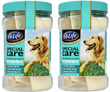 HiLife Hide Dog Chews Spearmint Flavour Fresh Breath Dogs Puppies 2 Packs of 12