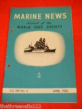MARINE NEWS - APRIL 1965 VOL XlX #4