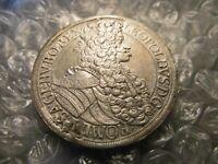 Austria 1700 Habsburg Emperor Leopold I Silver Thaler Details Coin        #-18.6