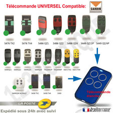 CARDIN :TELECOMMANDE UNIVERSELLE COMPATIBLE S449 QZ S486 TRQ TXQ S437 S438 S300