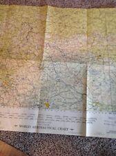 Antique Vintage USAF Air Force Aeronautical Chart  Map 1956 Bohmer Forest France
