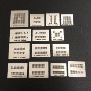 14pcs* DDR1 DDR2 DDR3 DDR4 DDR5 GDDR5X FBGA190 GDDR6 FBGA180 BGA Stencil