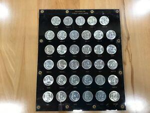 1948-1963 PDS Franklin Silver Half Dollar Complete BU Set of 35 Coins E9281