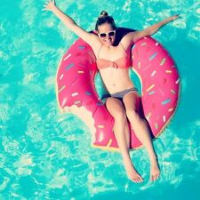 XL Inflatable Giant Swim Ring Swimming Pool Beach Holiday Novelty Donut Float