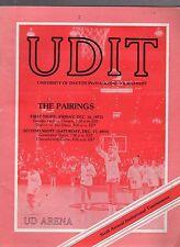 DECEMBER 1977 DAYTON FLYER BASKETBALL INVITATIONAL TOURNAMENT PROGRAM-4 TEAMS