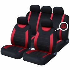 Red Full Set Front & Rear Car Seat Covers for Land Rover Discovery All Years