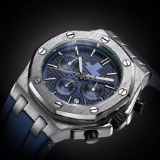 Torbollo Chronograph Wristwatch Multifunction Date Soft Strap WaterProof Watches