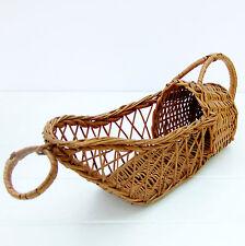 Vintage Retro Wicker Bottle Holder Basket