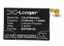 Replacement Battery For HTC 3.8v 2100mAh / 7.98Wh Mobile, SmartPhone Battery