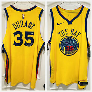 Kevin Durant Signed Warriors City Authentic Chinese Heritage Jersey 龍袍 (PANINI)