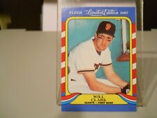 1987 FEER LIMITED EDITION #3 WILL CLARK 18 CARD LOT