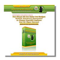 Mobile Keyword Generator -SEO Suchmaschinen Optimierung -PLR-/Reseller-Lizenz