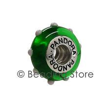 NEW Pandora Seeing Spots Green White Murano Glass Charm Rare 790627 79627