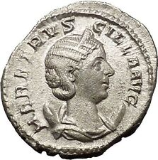 Herennia Etruscilla Hostilian mom Silver Ancient  Roman Coin Modesty Cult i54154