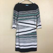 J. McLaughlin XS Nicola Dress Catalina Cloth Layered Stripe Sheath $225 New