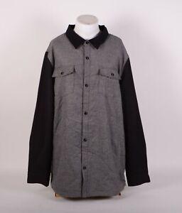 NWT MENS 686 SHERPA DIVIDE JACKET $100 XL Charcoal wool/corduroy