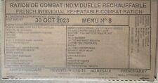 Ration de Combat Individuelle Réchauffable RCIR armée française - Menu n°8