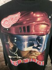 Vintage Detroit Red Wings NHL Sweatshirt Crewneck Size XL Distressed Aged XL USA