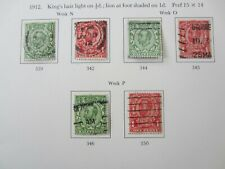 GB KGV Downey Head collection SG339-350 set of 6 used 1912