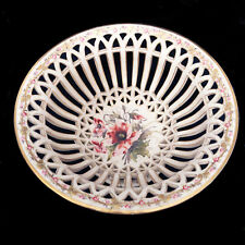Antique Pierced Porcelain Compote/Centerpiece